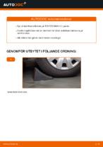 Steg-för-steg-guide i PDF om att byta Stabilisatorstag i TOYOTA RAV 4 II (CLA2_, XA2_, ZCA2_, ACA2_)