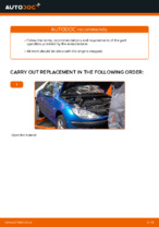 How to replace an engine air filter on Peugeot 206 CC (2D)