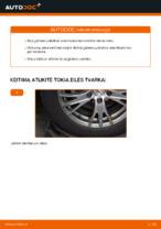 Kaip pakeisti galinės pakabos amortizatorius AUDI A4 B6 (8E5)