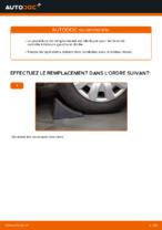 Comment remplacer l'arbre inférieur de la suspension indépendante avant sur une RENAULT CLIO II