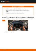 Miten etukallistuksenvakaaja vaihdetaan AUDI A3 8L1 -autoon