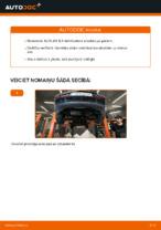 Kā nomainīt priekšējās piekares stabilizatora atsaiti AUDI A3 8L1 automašīnai