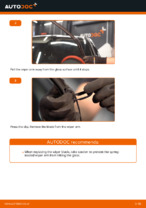 DIY OPEL change Wiper blades front and rear - online manual pdf