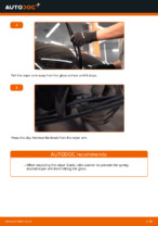 How to replace and adjust Windscreen wipers OPEL CORSA: pdf tutorial
