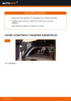 Hvordan man udskifter en gasfjeder på bagklappen på en OPEL CORSA C (F08, F68)