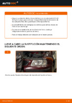 Cambio Juego de frenos de disco traseras y delanteras AUDI bricolaje - manual pdf en línea