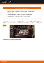 AUDI A3 (8L1) Takajarrupalat ja etujarrupalat asennus - vaihe vaiheelta korjausohjeet