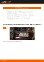 Kuinka vaihdat etujarrulevyt AUDI A3 8L1 -autoon