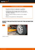 Πώς αντικαθιστούμε εμπρόσθιο γόνατο αμορτισέρ σε AUDI A3 8L1