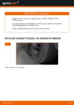 Como substituir uma conexão do estabilizador dianteiro no OPEL CORSA C (F08, F68)