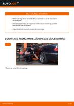 Kuidas vahetada tagumisis suspensiooni vedrusid MERCEDES-BENZ E W210