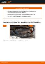 Kako zamenjati sprednje zavorne ploščice za kolutne zavore na OPEL CORSA C (F08, F68)