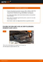OPEL Scheibenbremsen belüftet selber auswechseln - Online-Anleitung PDF