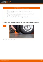 How to replace rear suspension springs on OPEL ASTRA G (T98, F08, F48)