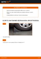 Miten etukallistuksenvakaaja vaihdetaan AUDI A4 B6 -autoon