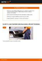 Kuinka vaihdat etujarrulevyt AUDI A4 B6 -autoon