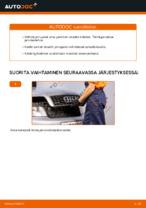 Kuinka vaihtaa etujarrupalat levyjarruihin autoon AUDI A4 B6