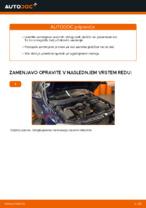Kako zamenjati sprednje zavorne ploščice za kolutne zavore na OPEL ASTRA G (T98, F08, F48)