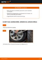Kuidas vahetada esimesi suspensiooni vedrusid autol AUDI A4 B6