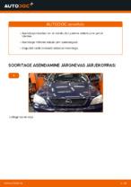 Esitule pirn vahetus: pdf juhend OPEL ASTRA
