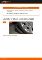 Útmutató: AUDI A4 B6 független első felfüggesztés alsó lengőkar csere