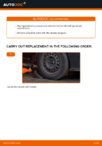 Step by step PDF-tutorial on RENAULT CLIO Control Arm replacement