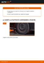 Lépésről-lépésre PDF-útmutató - RENAULT CLIO II (BB0/1/2_, CB0/1/2_) Lengőkar csere