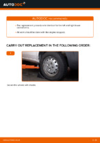 DIY manual on replacing Wishbone FIAT DOBLO Cargo (223)