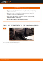 How to replace a cabin air filter on OPEL ASTRA G (T98, F08, F48)