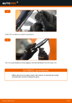 Changing Wiper Blades MERCEDES-BENZ VITO: workshop manual