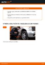 MERCEDES-BENZ Vzpera stabilizátora predné vľavo vymeniť vlastnými rukami - online návody pdf