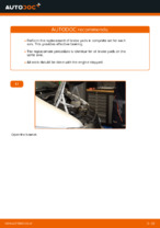 When to change Brake pad set disc brake on MERCEDES-BENZ VITO Bus (638): pdf manual