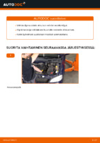 Kuinka vaihtaa moottoriöljyt ja öljynsuodatin OPEL ASTRA G (T98, F08, F48) malliin