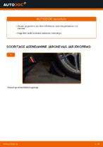 Kuidas asendada iseseisva vedrustuse esimest alumist hooba MERCEDES-BENZ E W210