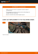 How to replace and adjust Suspension springs RENAULT KANGOO: pdf tutorial