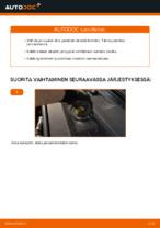 Kuinka vaihtaa takajarrupalat levyjarruihin autoon Audi A6 C6_4F