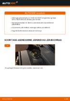 Asendamine Piduriketas AUDI A6: käsiraamatute