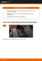 Online tasuta juhised kuidas vahetada Piduriklotsid AUDI A6 (4F2, C6)