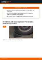 Radlagersatz vorne rechts links wechseln: Online-Anweisung für RENAULT CLIO