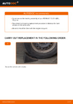 Replacing Wheel hub bearing RENAULT CLIO: free pdf
