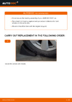rear and front Wheel bearing AUDI A4 | PDF replacement manual