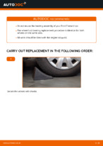 Step by step PDF-tutorial on Wheel Bearing FORD FIESTA V (JH_, JD_) replacement
