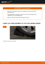 How to replace and adjust Shock Absorber AUDI A6: pdf tutorial