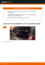 How to replace and adjust Shock Absorber RENAULT CLIO: pdf tutorial