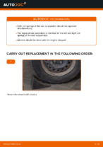 Step by step PDF-tutorial on Springs RENAULT CLIO II (BB0/1/2_, CB0/1/2_) replacement