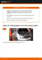DIY manual on replacing TOYOTA LAND CRUISER Brake Discs