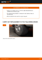 Step by step PDF-tutorial on TOYOTA LAND CRUISER Anti Roll Bar Links replacement