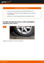 PEUGEOT Stabistange hinten links wechseln - Online-Handbuch PDF