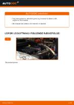 Filter udskifter og reparationsmanual med illustrationer