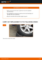 How to replace rear suspension springs on PEUGEOT 208